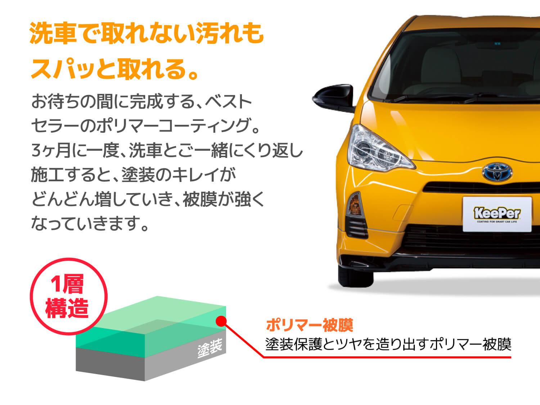 洗車で取れない汚れもスパッと取れる。